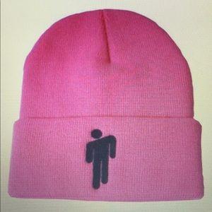 💕BRAND NEW BILLIE ELISH Pink Logo Beanie Cap